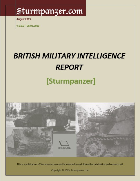 British Military Intelligence Report - Sturmpanzer IV