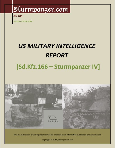 US Military Intelligence Report - Sturmpanzer IV