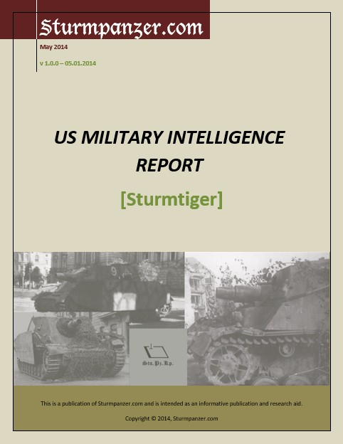 US Military Intelligence Report - Sturmtiger